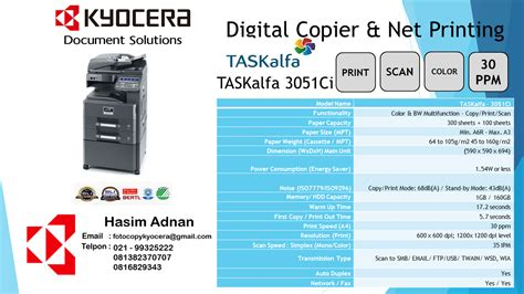 Toner Mesin Fotocopy Kyocera kyocera brosur spesifikasi mesin fotocopy kyocera