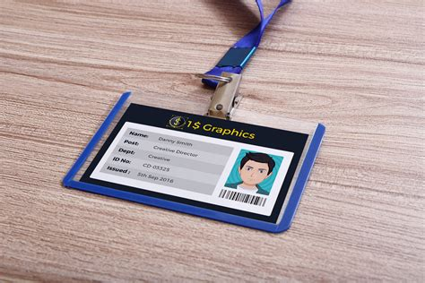 employee id card design template psd company employee identity card design template and mock up