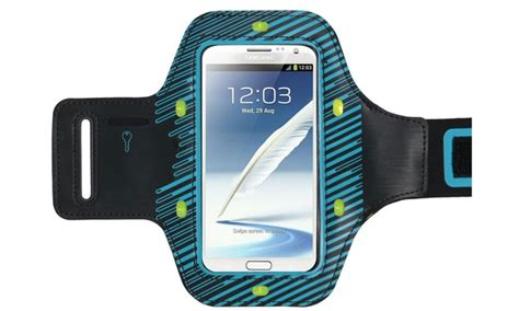 Galaxy X Armband Sportycase For Iphone 5 Sg Blue lighted sport armband groupon goods