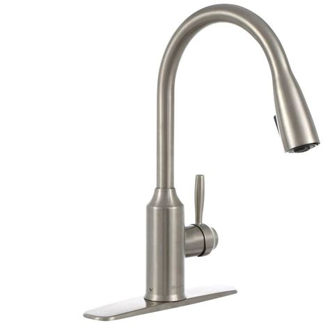 glacier bay single handle kitchen faucet glacier bay invee single handle pull sprayer kitchen faucet in stainless steel fp4a4080ss