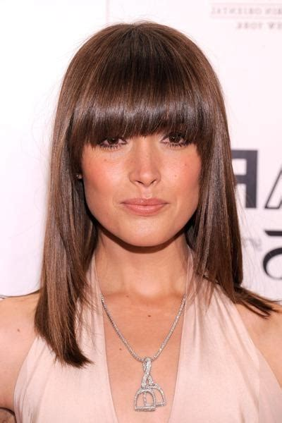 oval face full fringe 20 best collection of full fringe long hairstyles