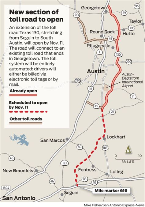 texas toll road 130 map texas 130 extension a 41 mile experiment houston chronicle
