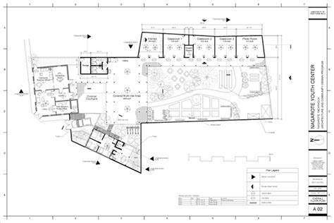 youth center floor plans nagarote youth center on behance