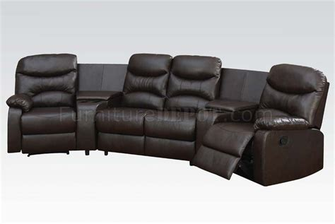 50110 spokane home theater sectional sofa in brown by acme