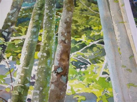tutorial watercolor trees painting trees and leaves watercolor demonstration