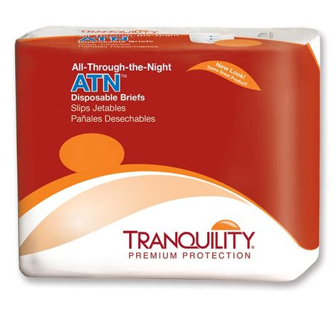 bed wetting store tranquility atn all through the night disposable briefs