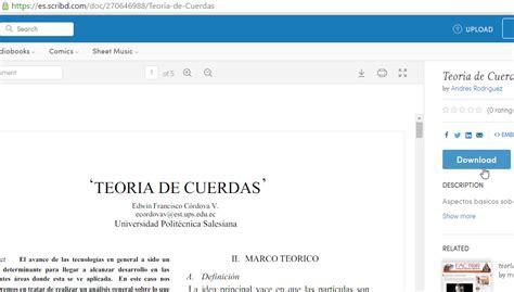 como descargar gratis de scribd cualquier documento tutorial c 243 mo descargar documentos de scribd sin subir