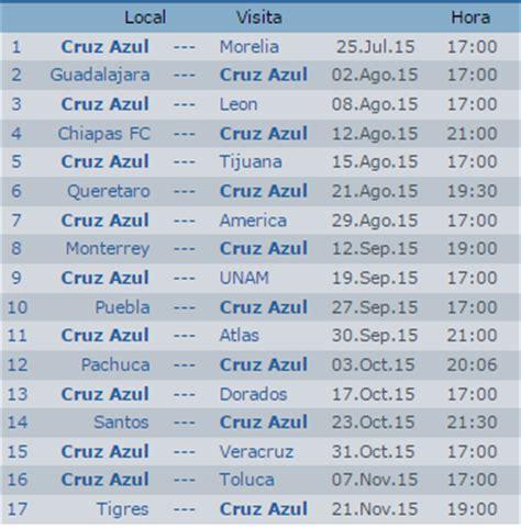 Calendario Apertura 2015 Calendario Azul Apertura 2015 Futbol Mexicano