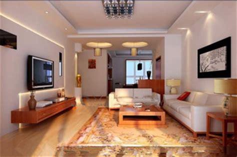 warm style white living room 3d model