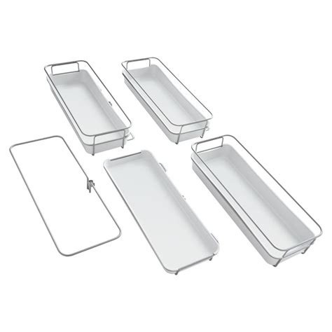 rubbermaid shelving parts shop rubbermaid fasttrack satin nickel plastic pantry kit