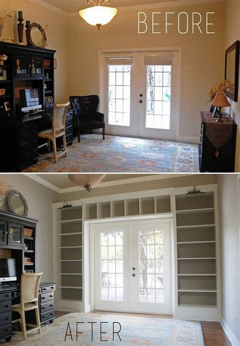 Diy Turn A Dull Wall Into An Impressive Floor To Ceiling Wall To Ceiling Bookshelves