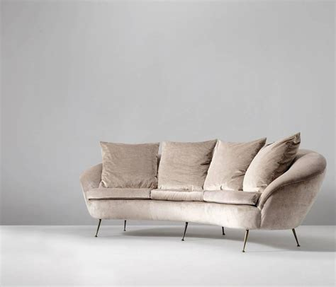 Curved Sofa For Sale Large Italian Re Upholstered Curved Sofa For Sale At 1stdibs
