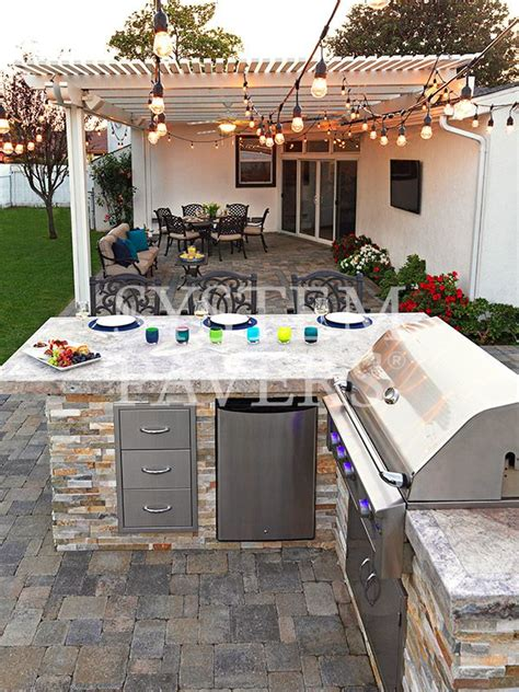 bbq island   bar modern outdoor kitchen