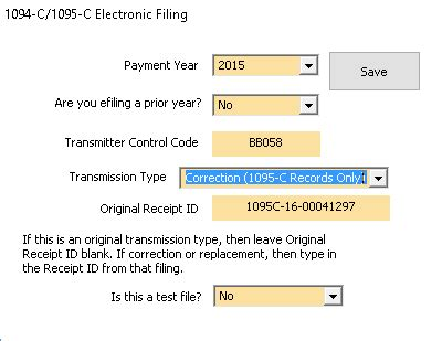 Correction Type 1099 tax software 187 aca replacement and corrections