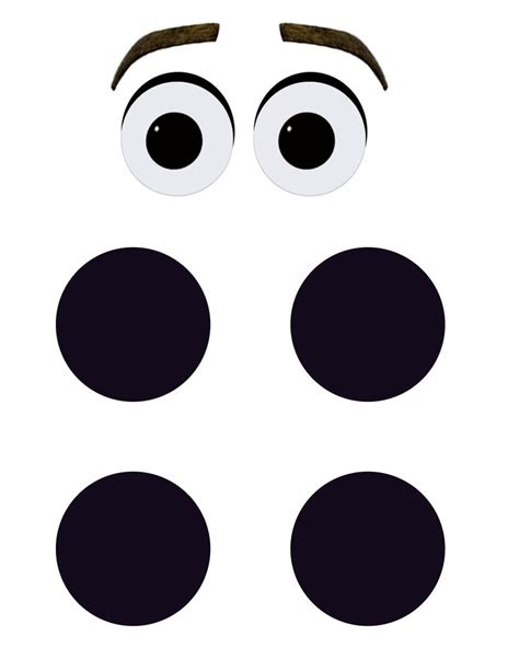 Printable Olaf Eyes | printable olaf eyes and buttons for diy halloween costume