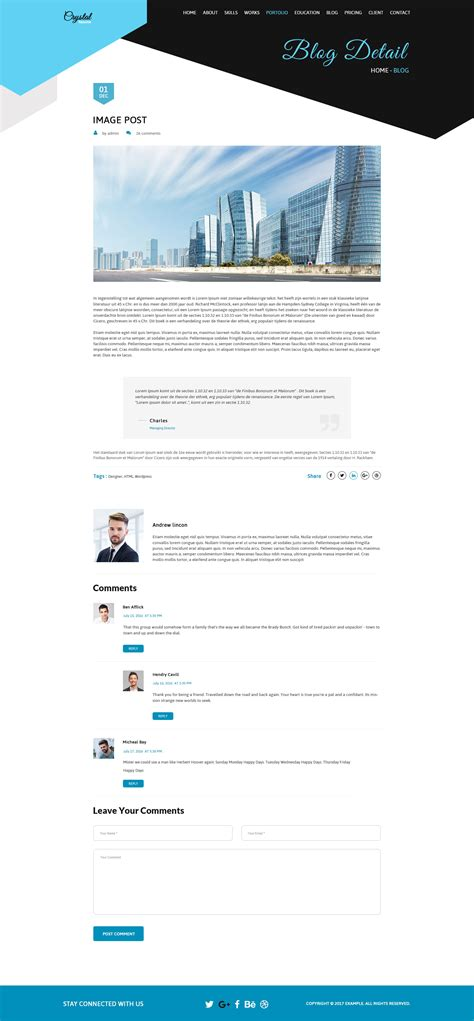 resume cv psd template by creative themes