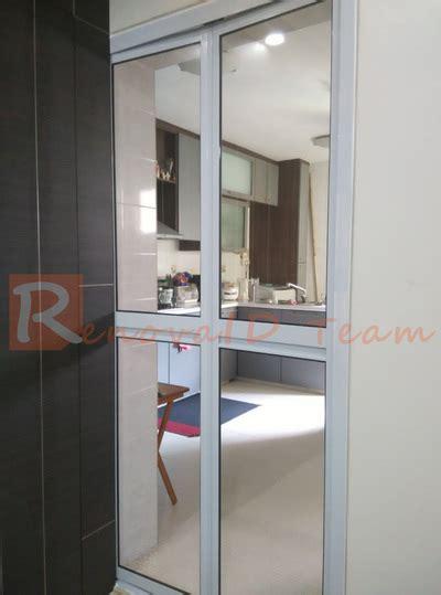 door to door sales singapore aluminium bi fold toilet door promotion for hdb bto and re