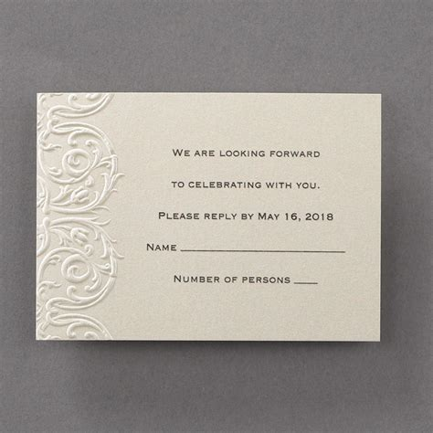 Embossed Wedding Invitations by Wedding Stationery Embossed Lace Invitations