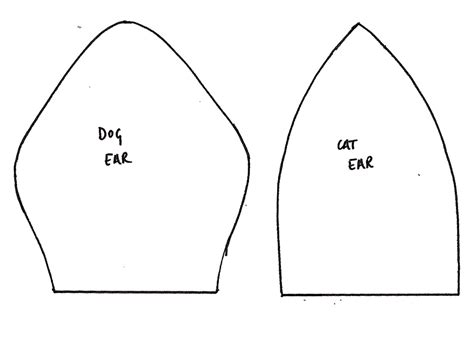 cat ear template ears outline images search