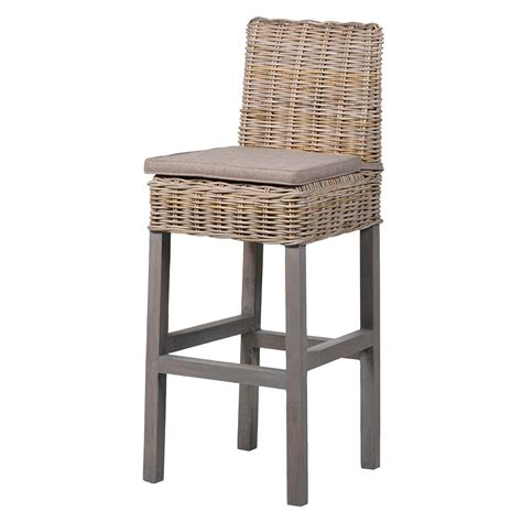 rattan bar stools uk rattan topped bar stool melody maison 174