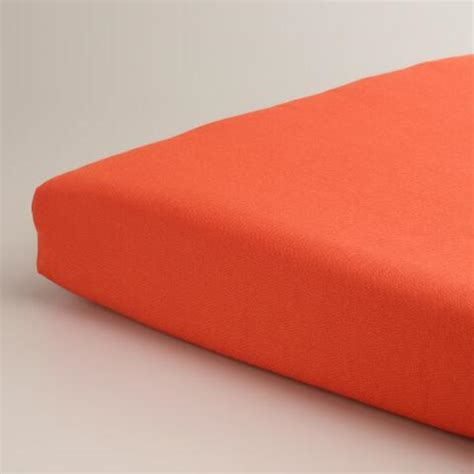 Orange Outdoor Chair Cushion   World Market