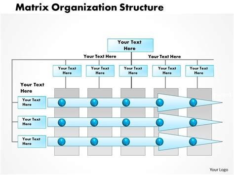 matrix structure diagram 0514 matrix organization project management powerpoint