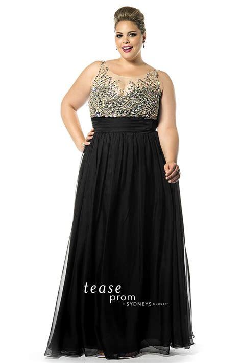 sydneys closet te1509 sheer beaded prom dress