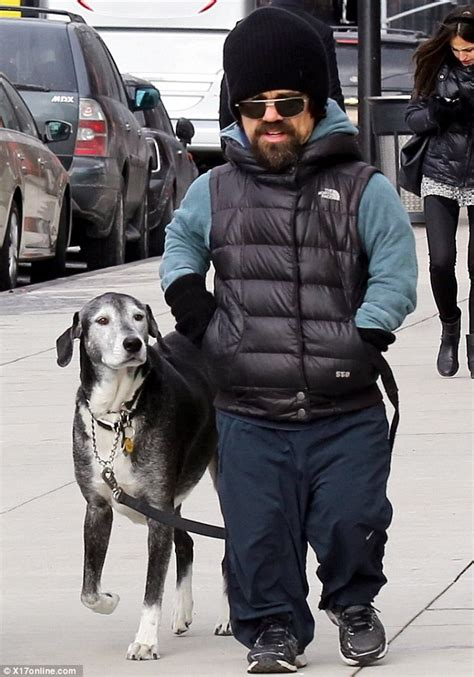 actor dog game of thrones peter dinklage and wife erica take daughter and dog for a