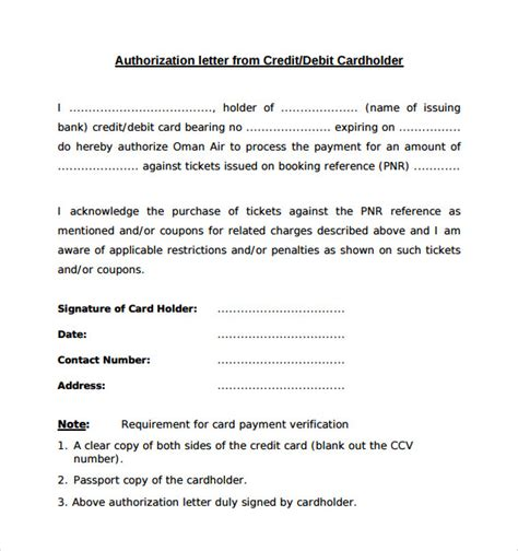 Credit Purchase Letter Sle Bank Authorization Letter 9 Free Exles Format