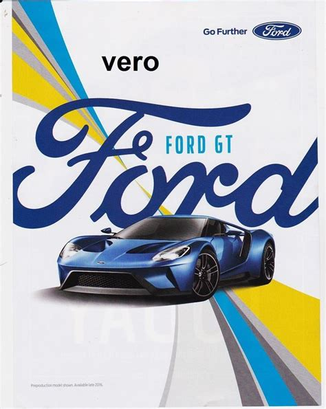 car ads in magazines ford gt 2016 magazine ad print art page clipping car