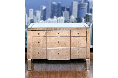 extra large mirrored chest of drawers catherine extra large 6 drawer mirrored dresser by bungalow 5