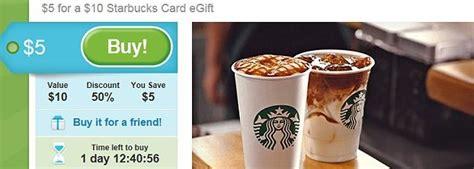 Starbucks Gift Card Groupon - groupon 10 starbucks gift card for just 5 totallytarget com