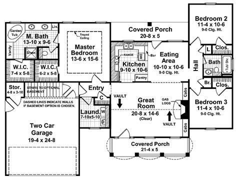 split two bedroom layout split bedroom floor plans 1600 square feet house plans
