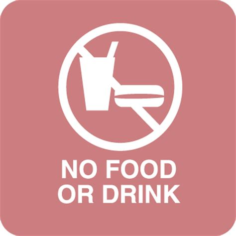 no food or drink no food or drink optima policy signs from seton com stock
