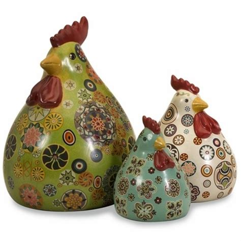 Chicken Decorations by Chicken Decorations Roosters Them