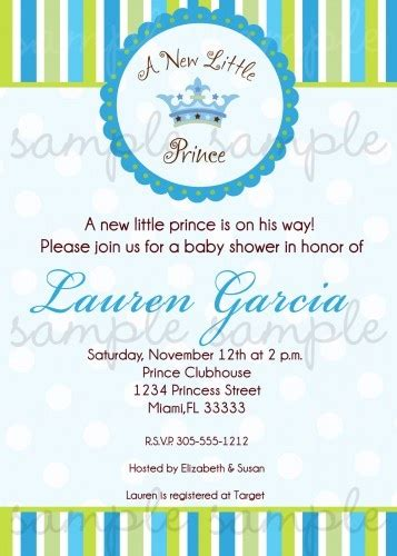 Sweet Prince Baby Shower Invitations by 28 Best Baby Shower Theme Images On