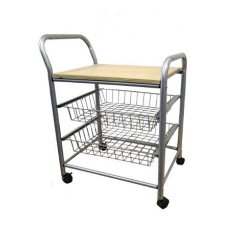 home decorators collection 21 in w trolley kitchen cart f