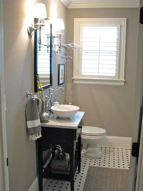console sinks for small bathrooms small gray guest bathroom ideas with black wooden console