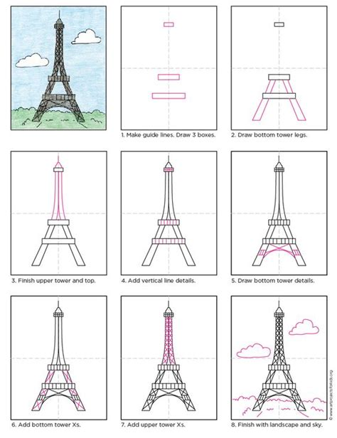 draw the eiffel tower free pdf tutorial howtodraw