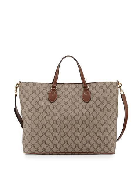 gucci gg supreme top handle tote bag neiman