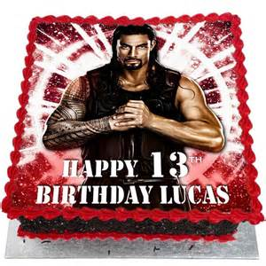 Football Cake Decorations Wwe Roman Reigns Birthday Cake Flecks Cakes