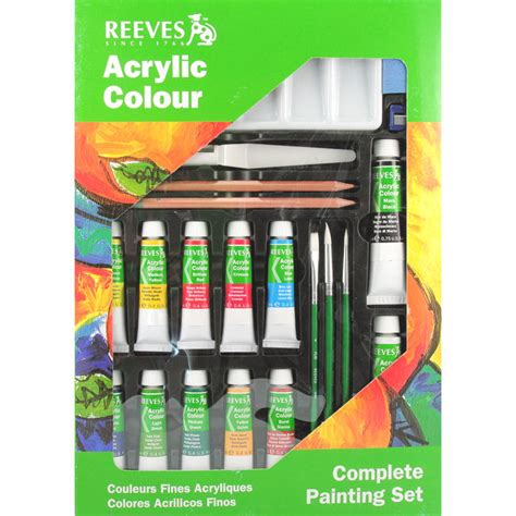 Complete Acrylic Painting Set By Reeves Beginner