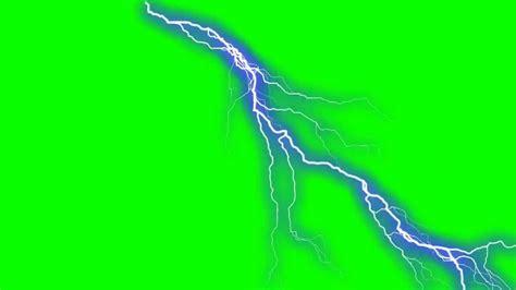 Electric Shock In Blue Green ultra visual lightning in green screen