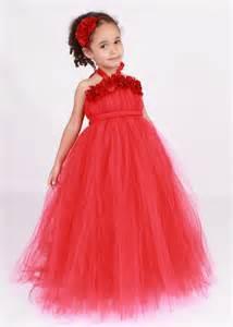 Red toddler ball gown flower girl dress with headpiecewedwebtalks