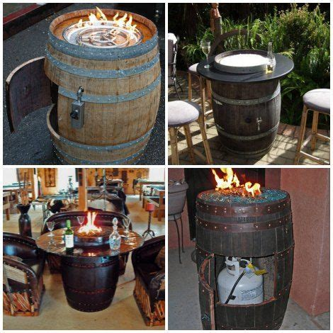 Diy Wine Barrel Fire Pit Table Wine Barrel Fire Pit Whiskey Barrel Pit