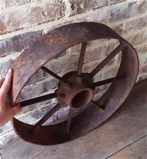 Vintage Iron Large Wagon Wheel 1000 Images About Vintage Wheelbarrow Wheels Cast