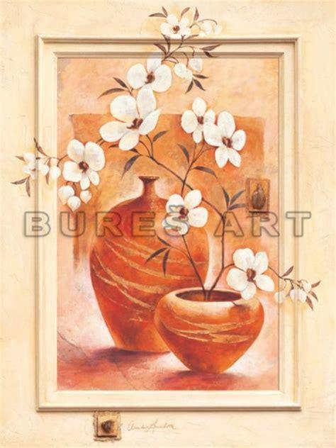 deco perete by arbex art decor picturi picturi celebre pictura tablou flori albe in vase de lut i inramat
