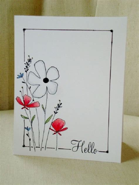 Simple Handmade Cards - handmade card from a scrapjourney peek boo clean and