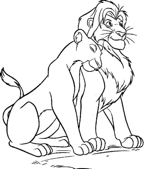 disney simba and nala coloring pages life of a c