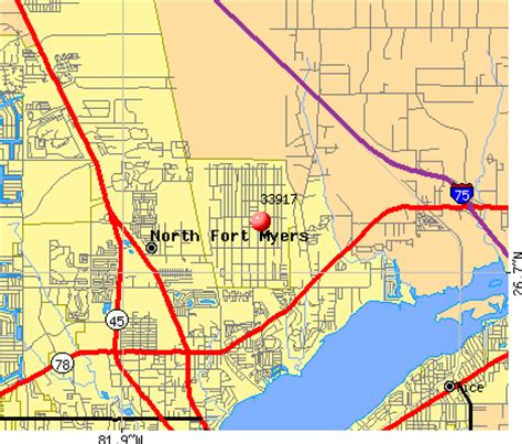 zip code map fort myers 33917 zip code north fort myers florida profile homes